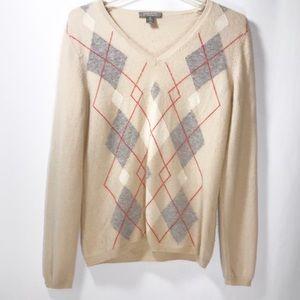 Charter club cashmere checker sweater